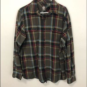 TIMBERLAND long sleeve plaid flannel size men's XL